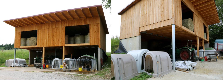 Betonfundament für einen landwirtschaftlichen Kälberstall