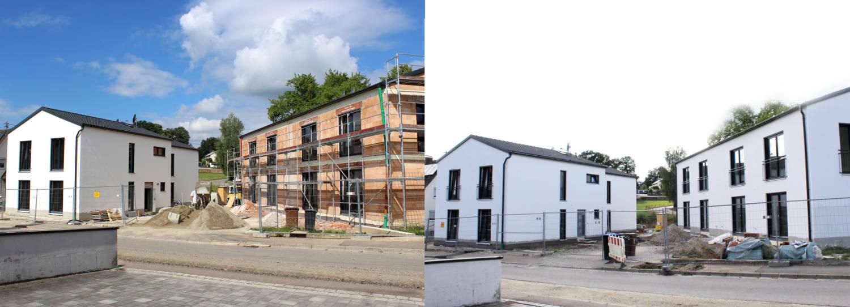 Zwei Doppelhäuser in Obergriesbach
